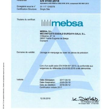 Wir besitzen das Qualitätszertifikates EN 9100 und ISO 9001